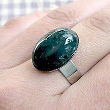 Prstene - ZĽAVA 45% Moss Agate Ring / Prsteň s machovým achátom v platinovom prevedení - 11798403_
