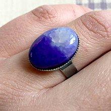 Prstene - ZĽAVA 55% Veins Agate Ring / Prsteň s dračím achátom v platinovom prevedení - 11799134_