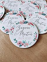 Magnetky pre svadobčanov venček 9