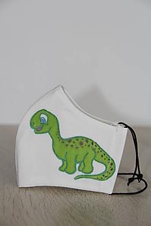 Rúška - Detské rúško - Dinosaurus - 11802425_