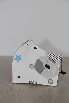 Rúška - Detské rúško - Medvedík - 11802435_