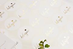 "Papiernictvo - Zlaté nálepky ""ďakujeme"" (40ks) - 11798971_"