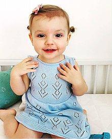 Detské oblečenie - Dievčenské šaty, Classic royal - bledomodrá - 11800010_
