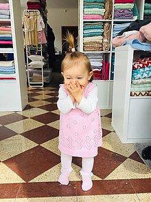 Detské oblečenie - Dievčenské šaty, Classic royal - ružová - 11800382_