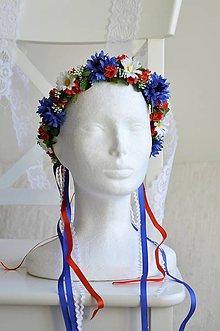 Ozdoby do vlasov - Venček na ľudovú nôtu - 11800938_