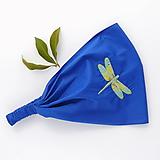 Ozdoby do vlasov - Čelenka vážka - královsky modrá - 11800352_