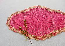 Úžitkový textil - Háčkovaná dečka Malinová - 11800371_