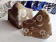 Rúška - Dámske / dievčenské tvarované RÚŠKO s drôtikom - hrubšia bavlna - 11801916_