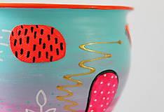 Nádoby - Keramický kvetináč - Šialene je pod hladinou - 11798702_