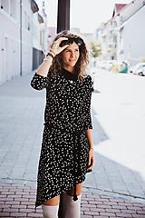 Šaty - Šaty Olívia s rolákom (M - Bodkovaná) - 11799749_