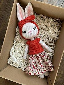 Hračky - zajačica Fifinka - v červenom - 11800987_
