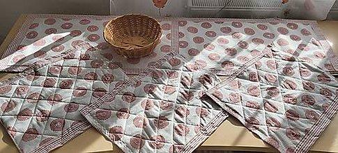 Úžitkový textil - Prestieranie a obrus Ružový sen - 11800635_