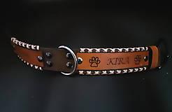 Pre zvieratká - Obojok pre psíka šitý s remienkami - 11801170_