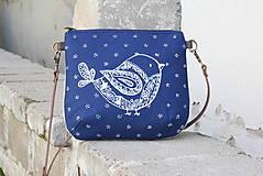 - modrotlačová kabelka Ria natur VTÁČIK ZLACNENÁ z 44€ AM3 - 11797885_