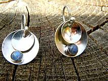 Náušnice - Kulaté s měsíčním kamenem - 11799282_