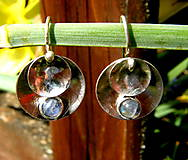 Náušnice - Kulaté s měsíčním kamenem - 11799283_
