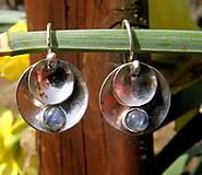 Náušnice - Kulaté s měsíčním kamenem - 11799286_