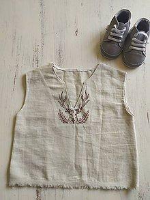 Detské oblečenie - Ľanové tielko - 11799164_