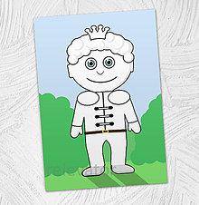 Hračky - Predvyfarbená omaľovánka - princ Karol - 11799526_