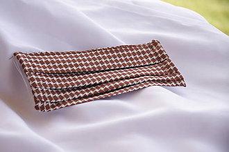 Rúška - Rúško hnedé vzorované - 11802864_