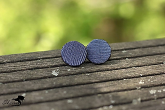 Náušnice - Hodvábne bodky - riflové - 11805330_