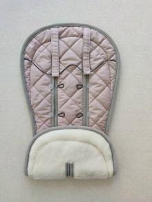 Textil - VLNIENKA Podložka do kočíka CYBEX Priam Lux proti poteniu 100 % merino top Dusty Pink staroružová púdrová - 11804411_