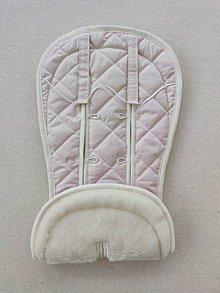 Textil - VLNIENKA Podložka do kočíka CYBEX Priam Lux proti poteniu 100 % merino top Powder Pink púdrová ružová - 11806805_