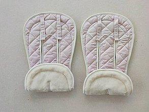 Textil - Bugaboo Donkey Twin seat liners / podložky pre dvojičky 100% MERINO Powder pink - 11806869_