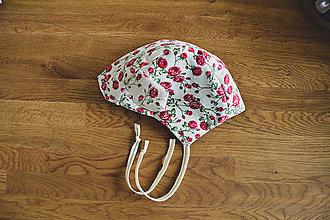 Detské čiapky - Čiapočka - ružičky - 11805077_