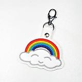 Kľúčenky - Prívesok dúha s obláčikom - 11807143_