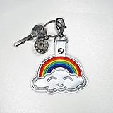 Kľúčenky - Prívesok dúha s obláčikom - 11807150_