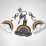 Kľúčenky - Prívesok dúha s obláčikom - 11807157_
