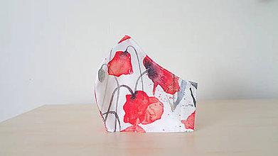 Rúška - Dizajnové rúško maľované maky - 11803827_
