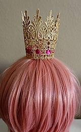 Detské doplnky - Zlatá korunka pre princeznú - 11805418_