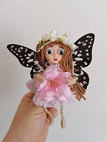 Dekorácie - Motýlia víla Leonka - 11804863_