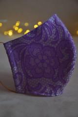 Rúška - Detské rúško na tvár (Fialová zmes bavlna - polyester) - 11806144_