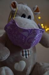 Rúška - Detské rúško na tvár (Fialová zmes bavlna - polyester) - 11806145_