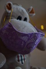 Rúška - Detské rúško na tvár (Fialová zmes bavlna - polyester) - 11806146_