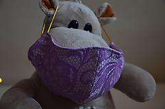 Detské rúško na tvár (Fialová zmes bavlna - polyester)
