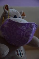Rúška - Detské rúško na tvár (Fialová zmes bavlna - polyester) - 11806148_