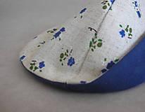 """Rúška - Dvojité rúško   """" Drobné modré kvietky"""" - 11805298_"""