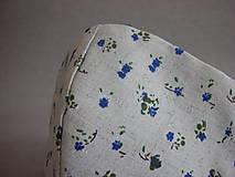 """Rúška - Dvojité rúško   """" Drobné modré kvietky"""" - 11806175_"""