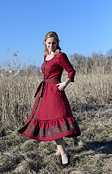 Šaty - ľanové šaty Larisa - 11803309_
