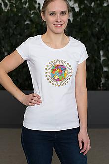 Tričká - Tričko mozaikové slnko - 11802683_