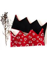 - Srdiečkové korunky  (Červeno-čierna) - 11804941_