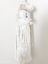 Dekorácie - Špagátová bábika MAMA so synčekom - 11807271_