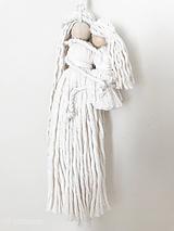 Dekorácie - Špagátová bábika MAMA s dcérkou - 11807305_