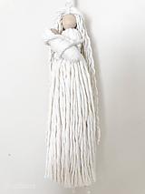 Dekorácie - Špagátová bábika MAMA s bábätkom - 11807334_
