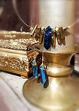 """Náušnice - Krištáľové náušnice,modré """"Rawky"""" - 11804493_"""