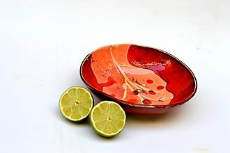 Nádoby - misa miska  červeno ružová - 11803526_
